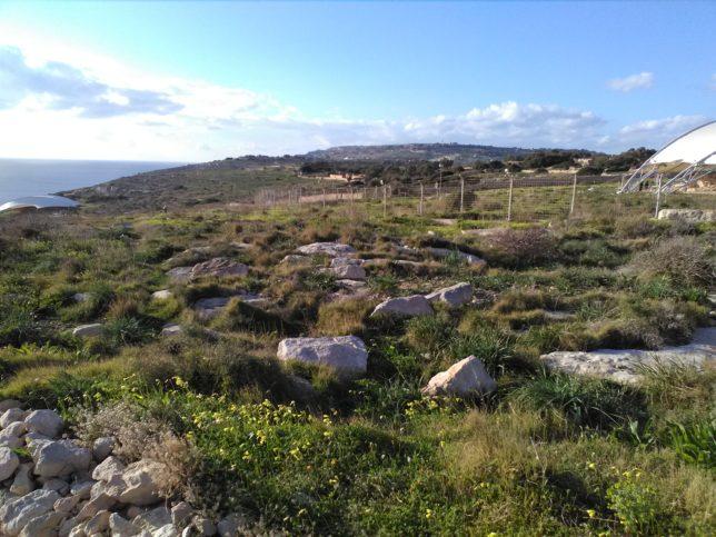výhled na Hagar Qim teple malta