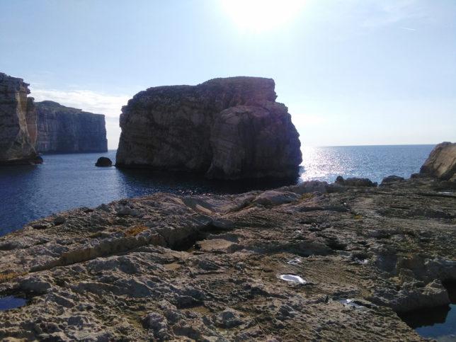 krásná skála fungus rock ve dwerya bay Malta