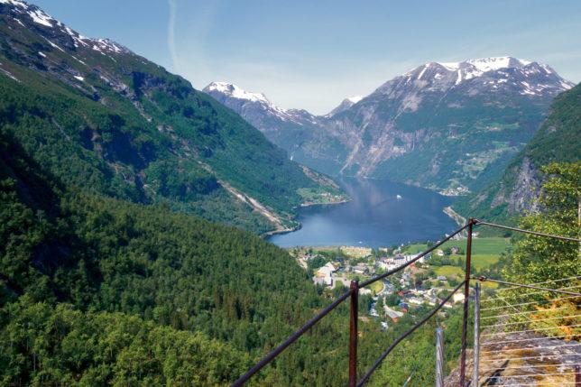 vyhlídka na Geiranger fjord